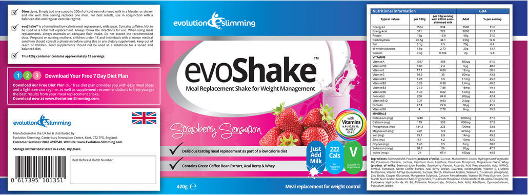 Evo-Shake-label
